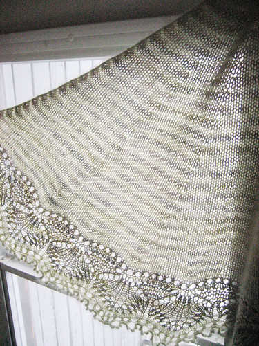 Left side of shawl