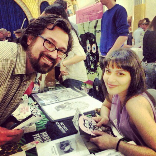 Tomas Moniz and Suzy X from #poczines POCZP at #lazinefest