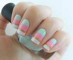 Easy Summer Sherbert Nail Design