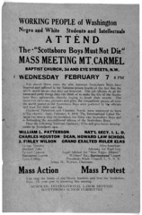 """Scottsboro Boys Must Not Die,"" DC Mass Meeting: 1934"