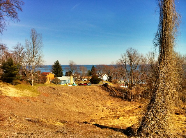 Looking at the eastern shore