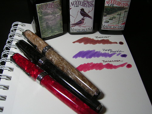 Noodler's Inks Meet Levenger True Writers