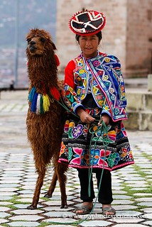 The Quechua girl and the Lama - Peru