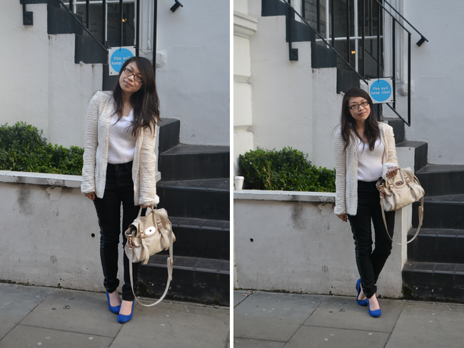 daisybutter - UK Style and Fashion Blog: what i wore, monochrome, SS13, ootd, london fashion week