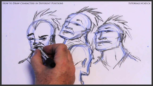 learn how to draw characters in different positions 020