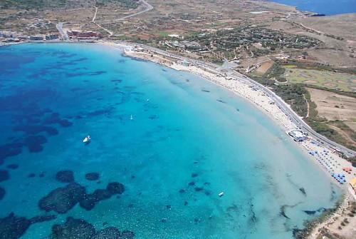 Malta - Mellieha Ghadira Bay Aerial View by Jurgen Scicluna