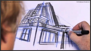 learn how to draw city buildings 031