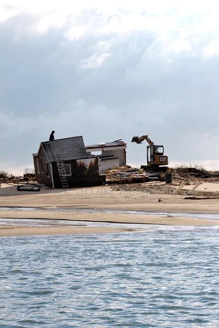Blizzard Nemo  Chatham Mass. Cape Cod Beach Camp Demolition DAY 2  Img  2 B   Demo  LeClaire Photography