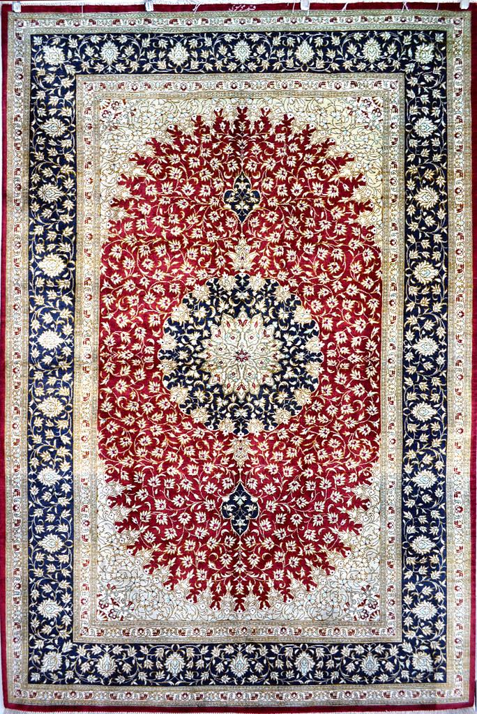 Pure-Qum-ilk-Persian-Rug