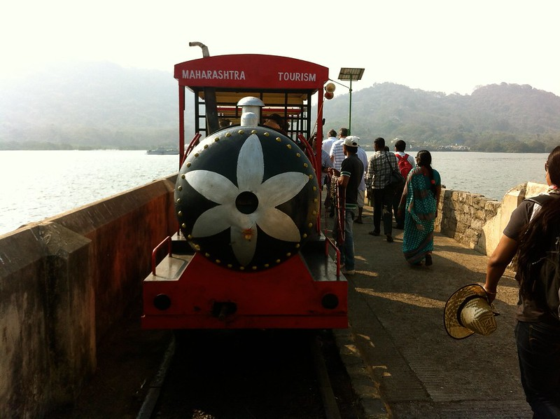 Toy train at Elephanta jetty