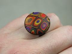 Polümeersavist sõrmus RETRO / Polymer Clay Ring RETRO