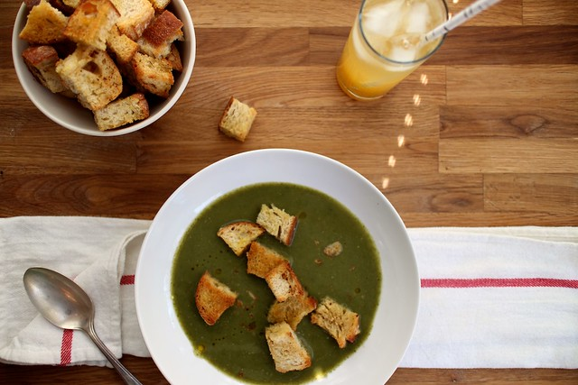 Hot Bowl of Spicy Lentil Soup with Buttered Bread Vegan Cream of ...