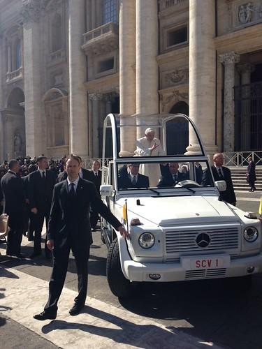 L'arrivo del Papa
