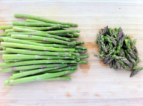 Asparagus Tips Removed