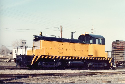 A used EMD SW 1 scrap yard switcher.  Chicago Illinois.  February 1986. by Eddie from Chicago