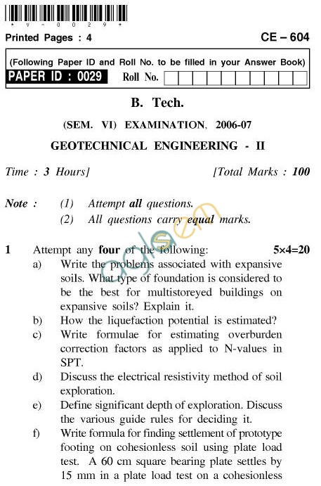 geotechnical materials essay Scope and objectivestransportation serves society's basic needs for personal travel and transfer of goods transportation engineering applies scientific and technical knowledge to provide economical and efficient transportation service that meets societal needs while maintaining compatibility with environmental, energy, and safety goals.