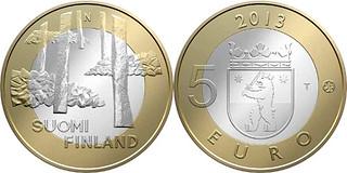 Finland 5 euro coin