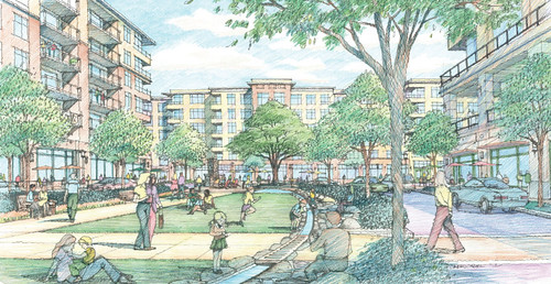 Proposed Plaza, Chevy Chase Lake