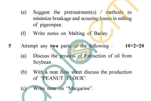 UPTU: B.Tech Question Papers -TFT-602 - Cereals, Pulses & Oil Seed Products
