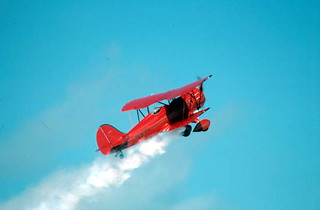 Freddy Cabanas performing during an air show: Key West, Florida