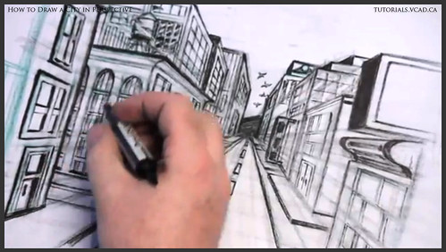 learn how to draw city buildings in perspective 039