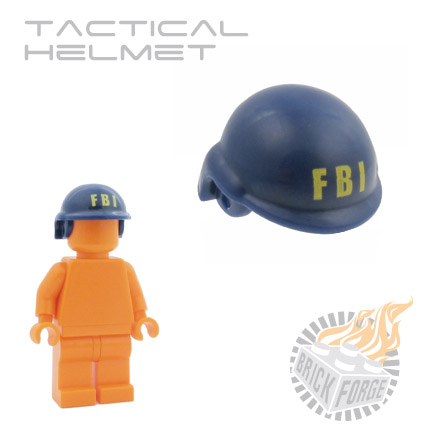 Tactical Helmet - Dark Blue (yellow FBI print)
