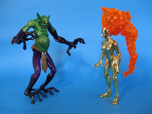 Pre-Marvel Legends Nova and Meegan Alien