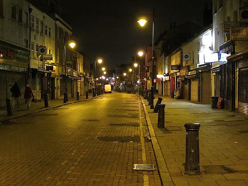 Deptford High Street at night
