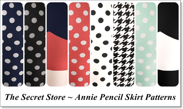 The Secret Store Annie Pencil Skirt Patterns