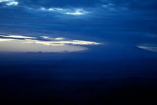 Last light view of Mount Meru from Mt. Kilimanjaro View Lodge