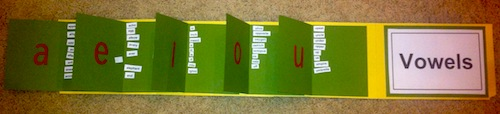 Short Vowels Flip Books Open