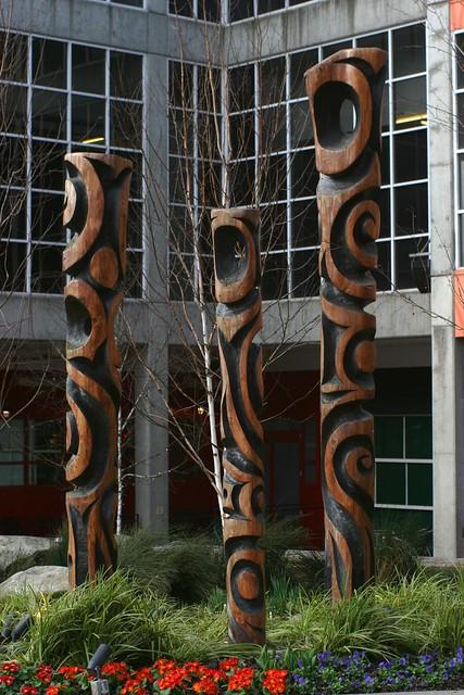 Suburban Tiki Pillars
