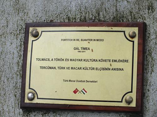 Feriköy temető - Gál Tímea emléktábla