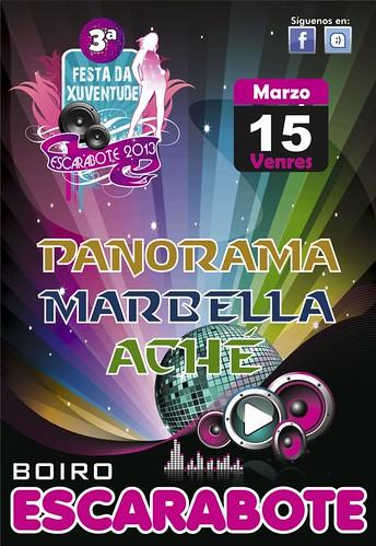 Boiro 2013 - III Festa da Xuventude de Escarabote - cartel