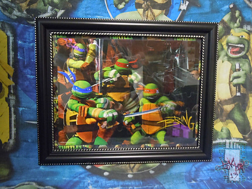 CARDINAL :: Nickelodeon TEENAGE MUTANT NINJA TURTLES - 48 Piece Lenticular Puzzle // tOkKustom matte & framed i  (( 2012 ))