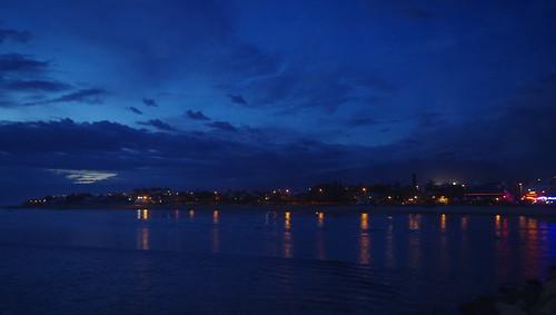 blue bleu ile reunion island bourbon color couleur night landscape travel