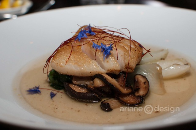 Ocean Wise Long Line BC Gray Cod, baby bok choy, shitake mushrooms, dashi broth
