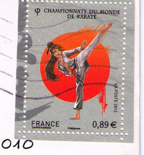 French Karate stamp