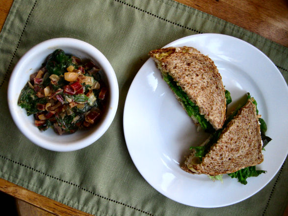 Swiss Chard and Chicken Sandwich