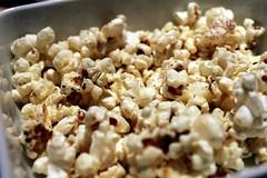 meal(0.0), breakfast(0.0), kettle corn(1.0), food(1.0), dish(1.0), cuisine(1.0), snack food(1.0), popcorn(1.0),
