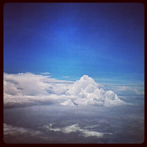 Cloud colony #sky  #instagram #instamood  #instapic  #aeroplane by be.samyono