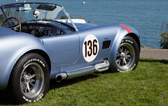 shelby daytona(0.0), supercar(0.0), race car(1.0), automobile(1.0), wheel(1.0), vehicle(1.0), automotive design(1.0), antique car(1.0), classic car(1.0), vintage car(1.0), land vehicle(1.0), ac cobra(1.0), sports car(1.0),