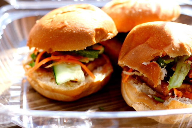 vegan bahn mi sliders