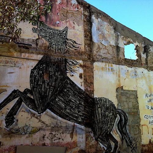#streetart #tlvstreetart #dede#tlvstreetartist#horseporn#nofilter#decay#urbandecay#derelict #citylife #urbanart by idea.good aka taya1