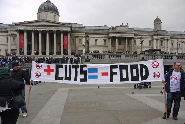 Bedroom Tax protest Trafalgar Square