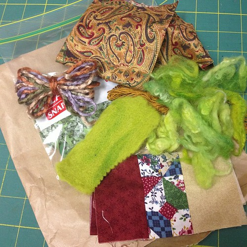 #fmsphotoaday mar31 {stuff}.. A bag of stuff from which to make an art creation..