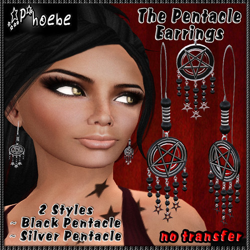 *P* The Pentacle Earrings