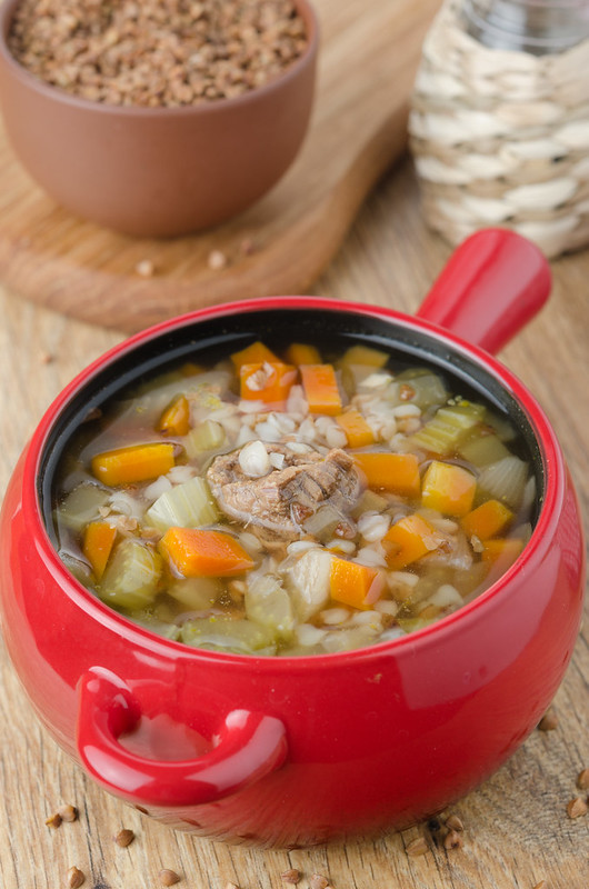 buckwheat soup with meat