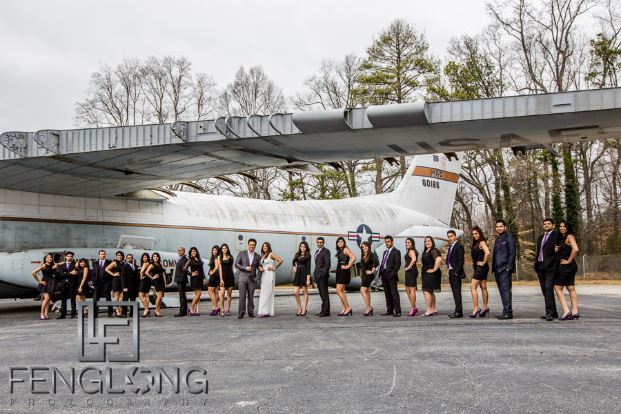 Kanwal & Ali's Pre-Wedding Shoot | Aviation Wing of the Marietta Museum of History | Atlanta Indian Wedding Photography