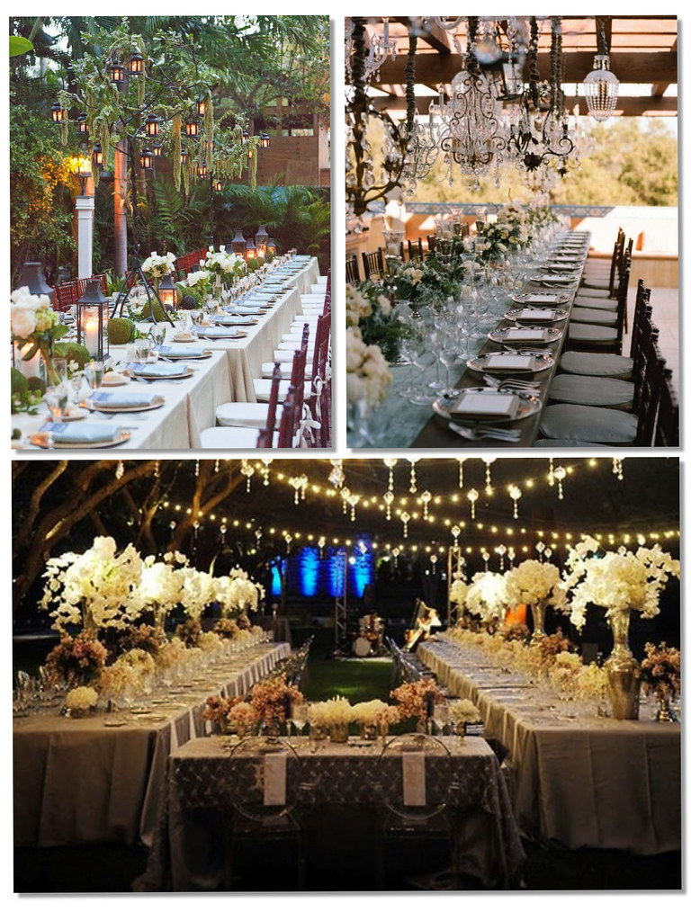 Decoración mesas largas bodas - monicositas